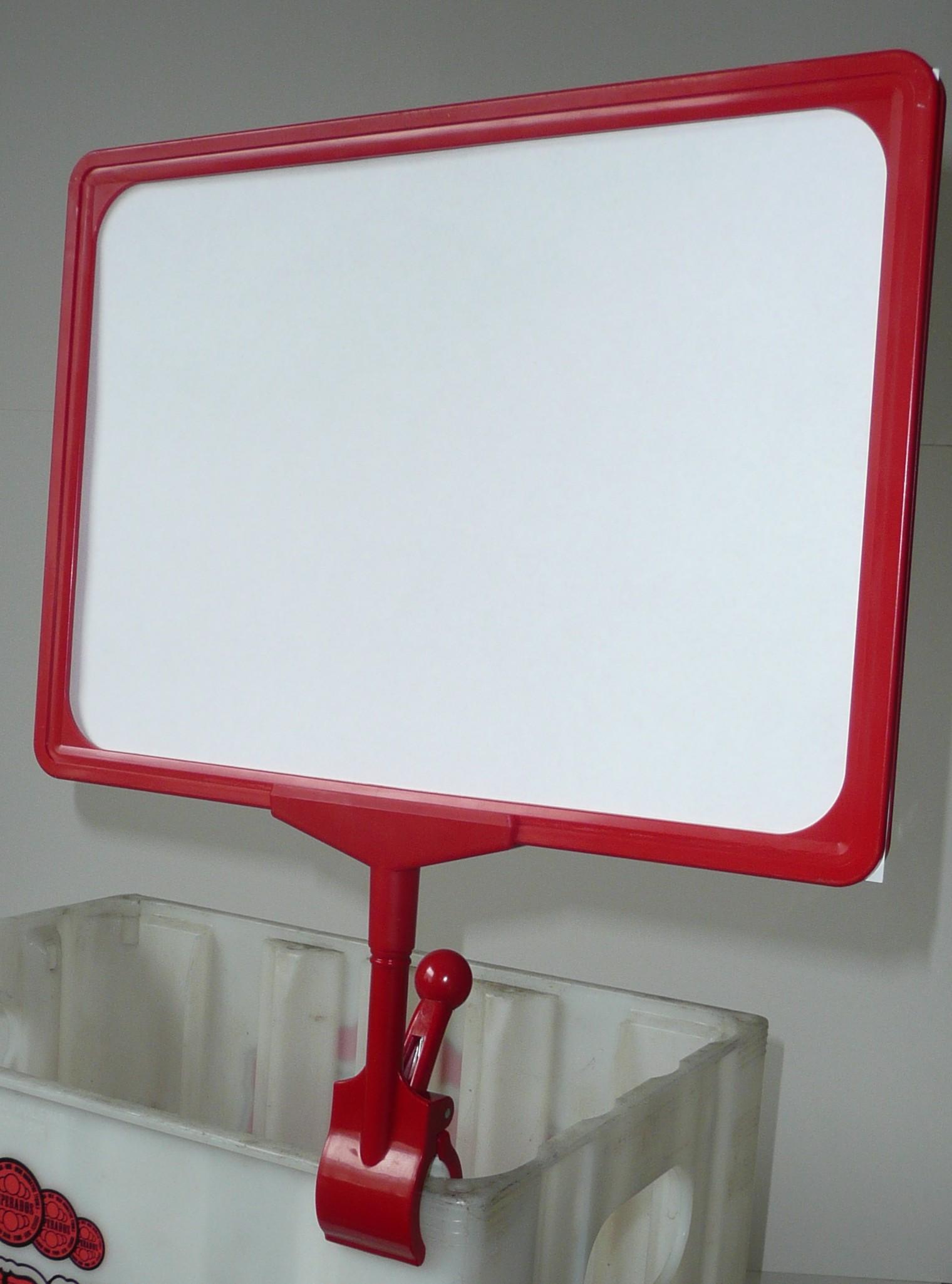Rahmenständer DIN A4 - Werbeständer mit Klammer für Regale, Kisten ...
